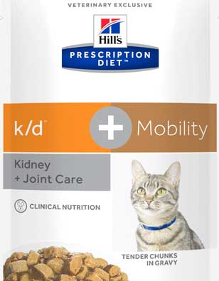 Bag of k/d mobility cat food