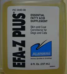Essential fatty acids label on container