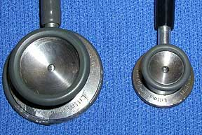 Picture of Different Sized Stethoscope Bells