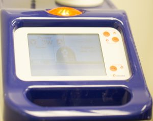 Picture of the screen of the laser surgery unit