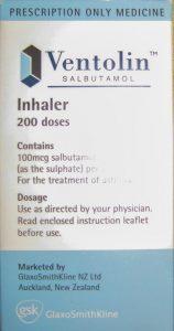 Label on Box of Inhaler
