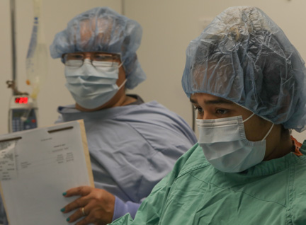 Nurse anesthetist and assistant surgeon