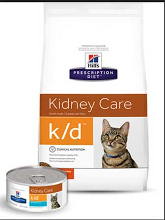 kd cat food bag and can