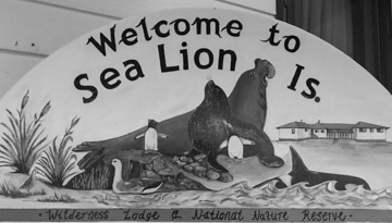Welcome to Sea Lion Island Sign