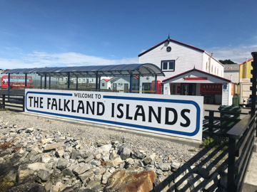 Welcome to the Falkland Islands Sign