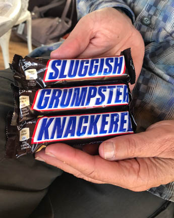 Picture of Three Snickers Bars